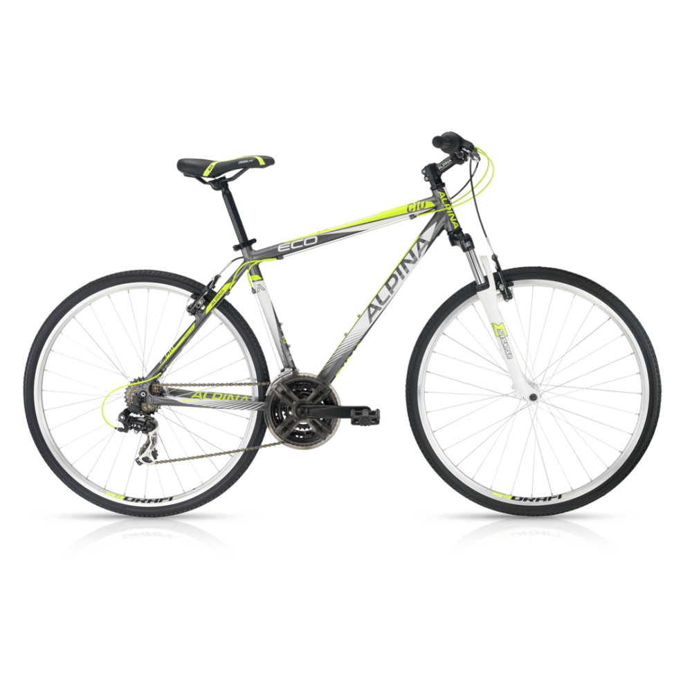 "Crossový bicykel Alpina ECO C10 grey lime - model 2016 17"" - Záruka 5 rokov"
