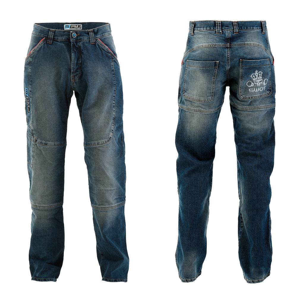 Pánske moto jeansy PMJ Boston Swot