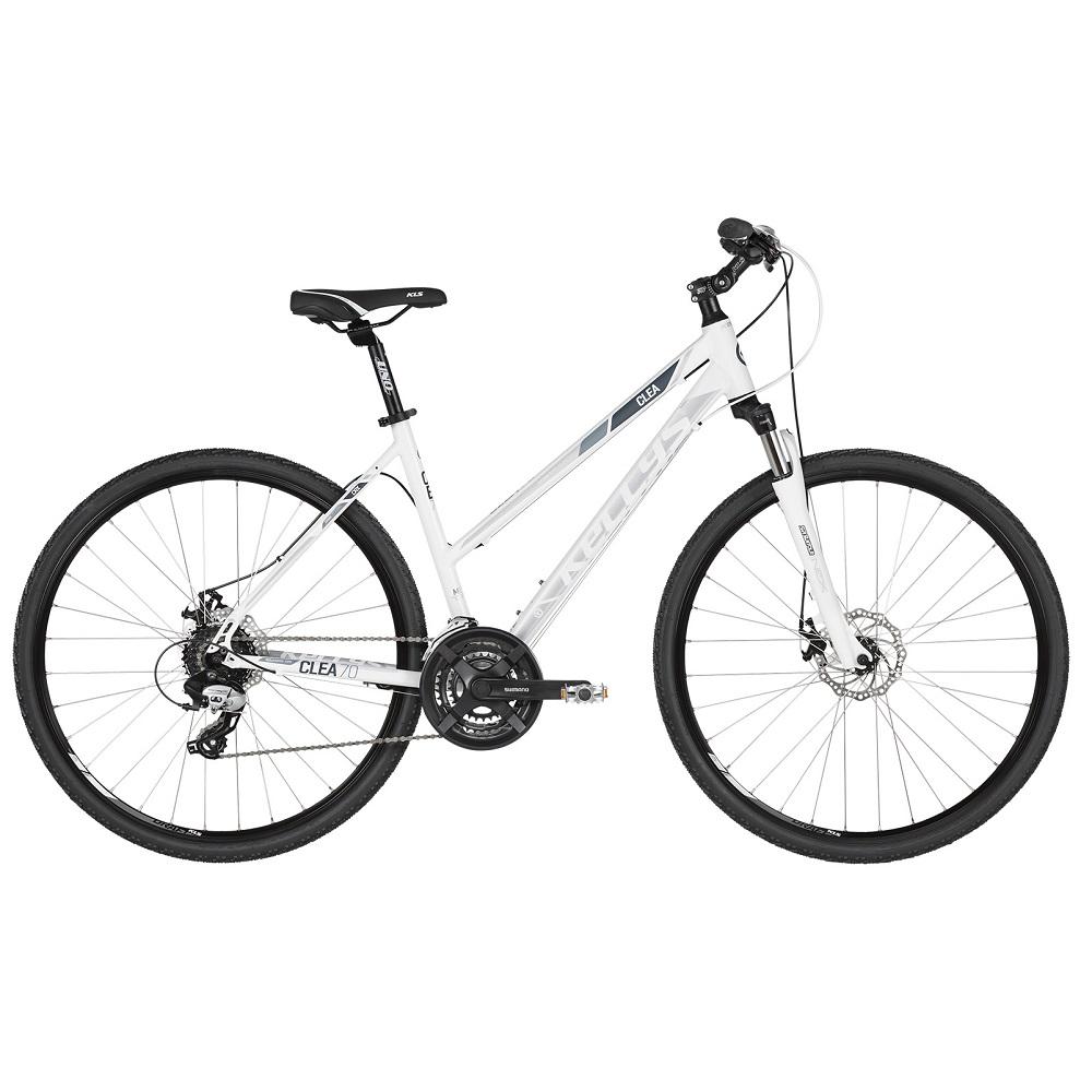 """Dámsky crossový bicykel KELLYS CLEA 70 28"""" - model 2019 White - S (17'') - Záruka 10 rokov"""