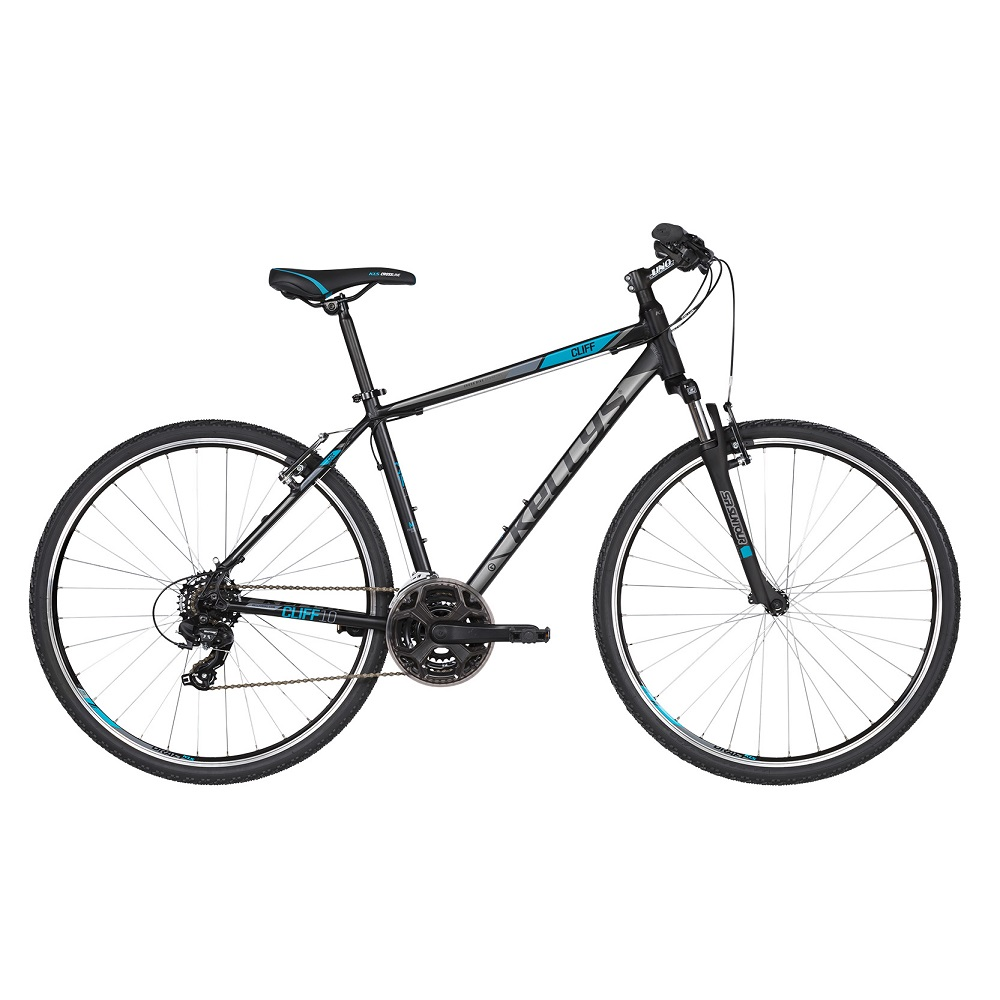 """Pánsky crossový bicykel KELLYS CLIFF 10 28"""" - model 2019 Black Blue - S (17'') - Záruka 10 rokov"""