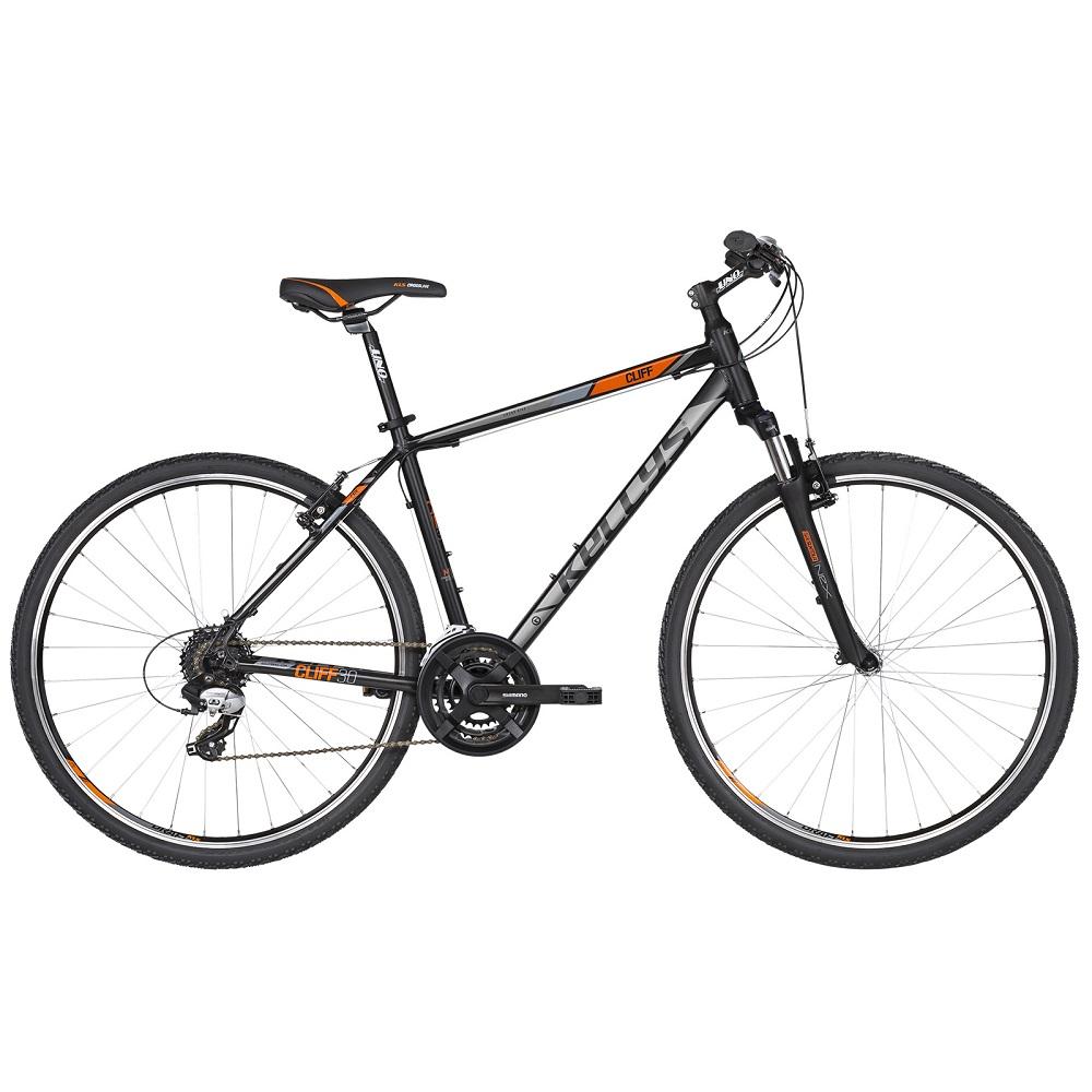 """Pánsky crossový bicykel KELLYS CLIFF 30 28"""" - model 2019 Black Orange - S (17'') - Záruka 10 rokov"""