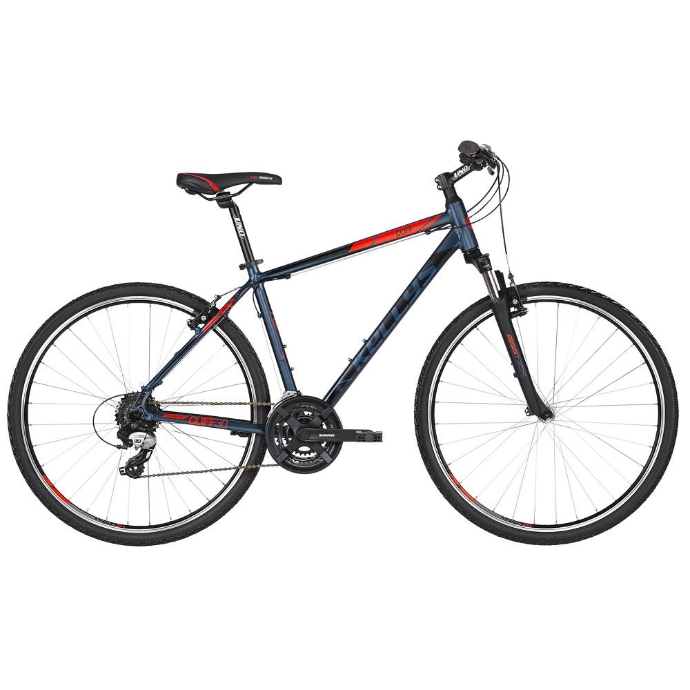 """Pánsky crossový bicykel KELLYS CLIFF 30 28"""" - model 2019 Blue Red - S (17'') - Záruka 10 rokov"""