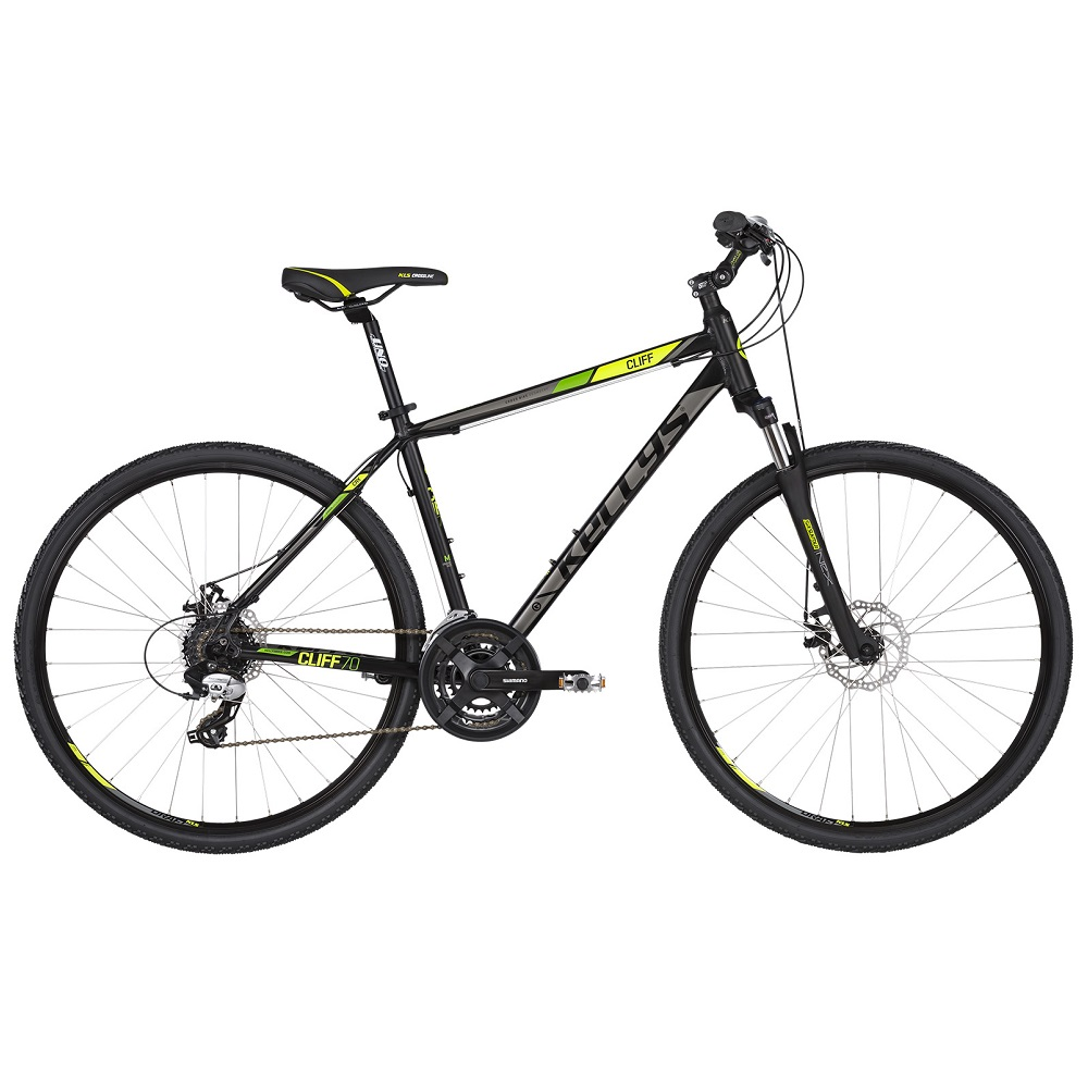 """Pánsky crossový bicykel KELLYS CLIFF 70 28"""" - model 2019 Black Green - S (17'') - Záruka 10 rokov"""
