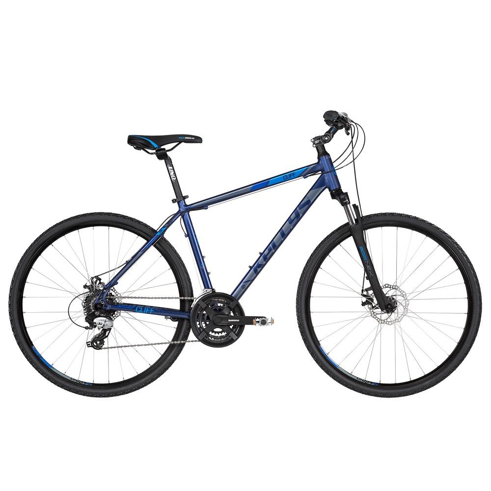 """Pánsky crossový bicykel KELLYS CLIFF 70 28"""" - model 2019 blue - S (17'') - Záruka 10 rokov"""