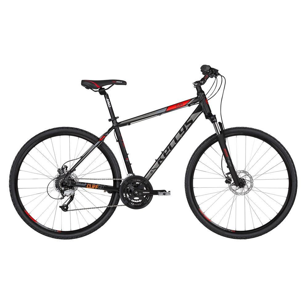 """Pánsky crossový bicykel KELLYS CLIFF 90 28"""" - model 2019 Black Red - S (17'') - Záruka 10 rokov"""