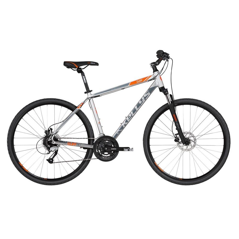 """Pánsky crossový bicykel KELLYS CLIFF 90 28"""" - model 2019 Grey - S (17'') - Záruka 10 rokov"""