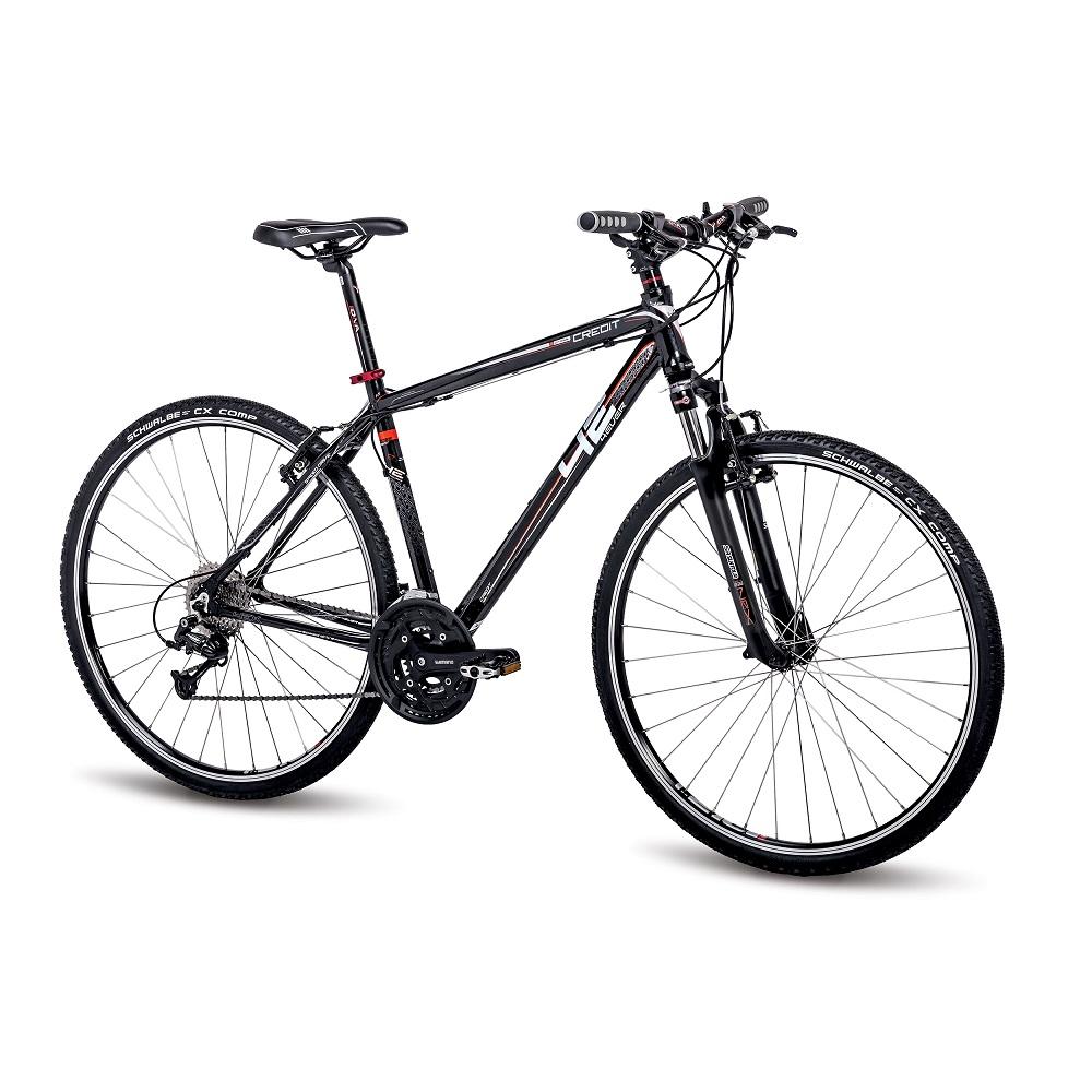 """Pánsky crossový bicykel 4EVER Credit 28"""" - model 2016 čierno-červená - 18,5"""" - Záruka 10 rokov"""