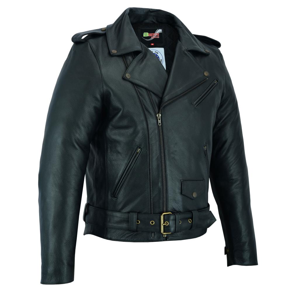 Kožená moto bunda BSTARD BSM 7830 čierna - S