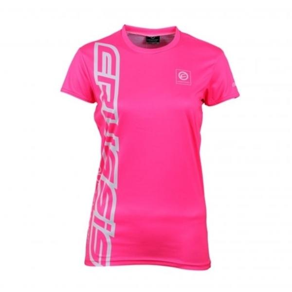 Dámske tričko s krátkym rukávom CRUSSIS fluo ružové - fluo ružová. Dámske funkčné  tričko ... cb4ba45f26b