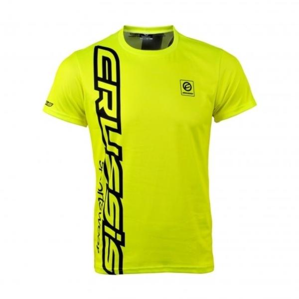 c2b8a6c1cbd1 Pánske tričko s krátkym rukávom CRUSSIS fluo žlté - fluo žltá. Pánske  funkčné tričko ...