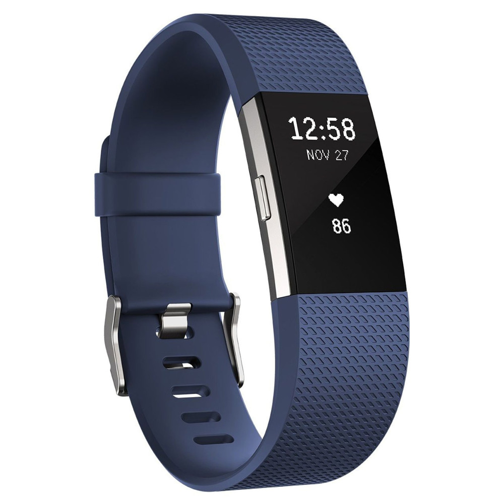 Fitness náramok Fitbit Charge 2 Blue Silver L