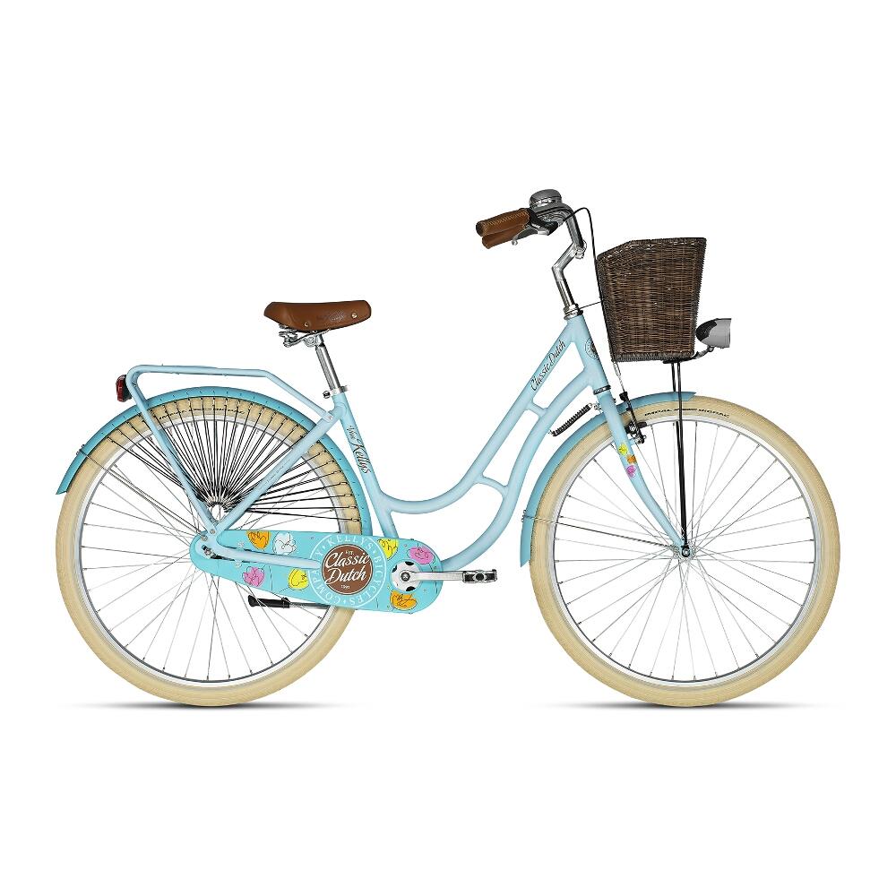 "Mestský bicykel KELLYS CLASSIC DUTCH 28"" - model 2019 blue - 18"" - Záruka 10 rokov"