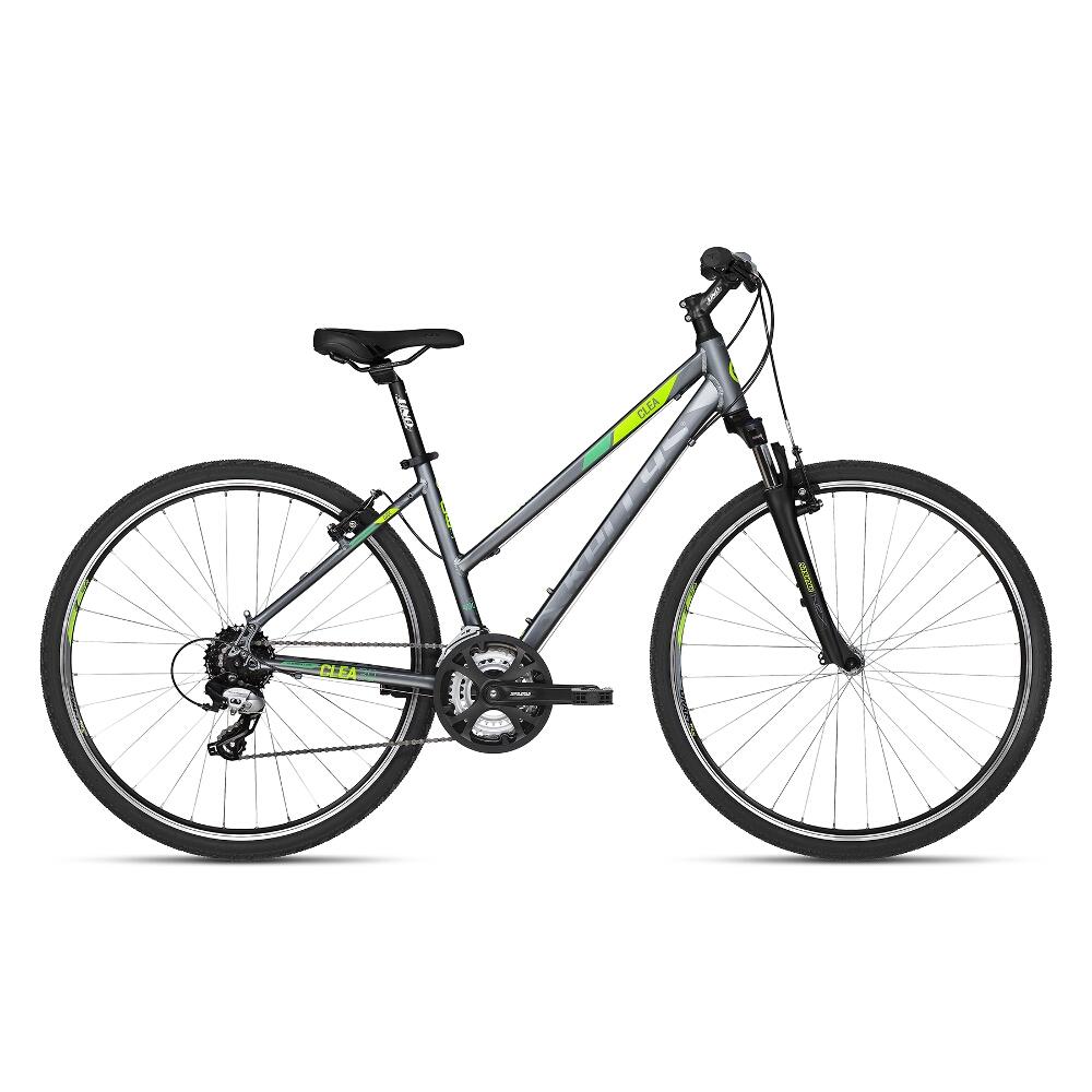 """Dámsky crossový bicykel KELLYS CLEA 30 28"""" - model 2018 Black Lime - 17"""" - Záruka 10 rokov"""