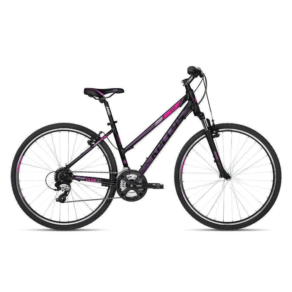 "Dámsky crossový bicykel KELLYS CLEA 30 28"" - model 2018 Black Pink - 19"" - Záruka 10 rokov"