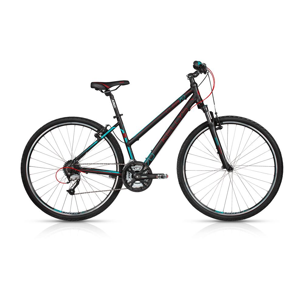 """Dámsky crossový bicykel KELLYS CLEA 70 28"""" - model 2017 Black - 480 mm (19"""") - Záruka 10 rokov"""