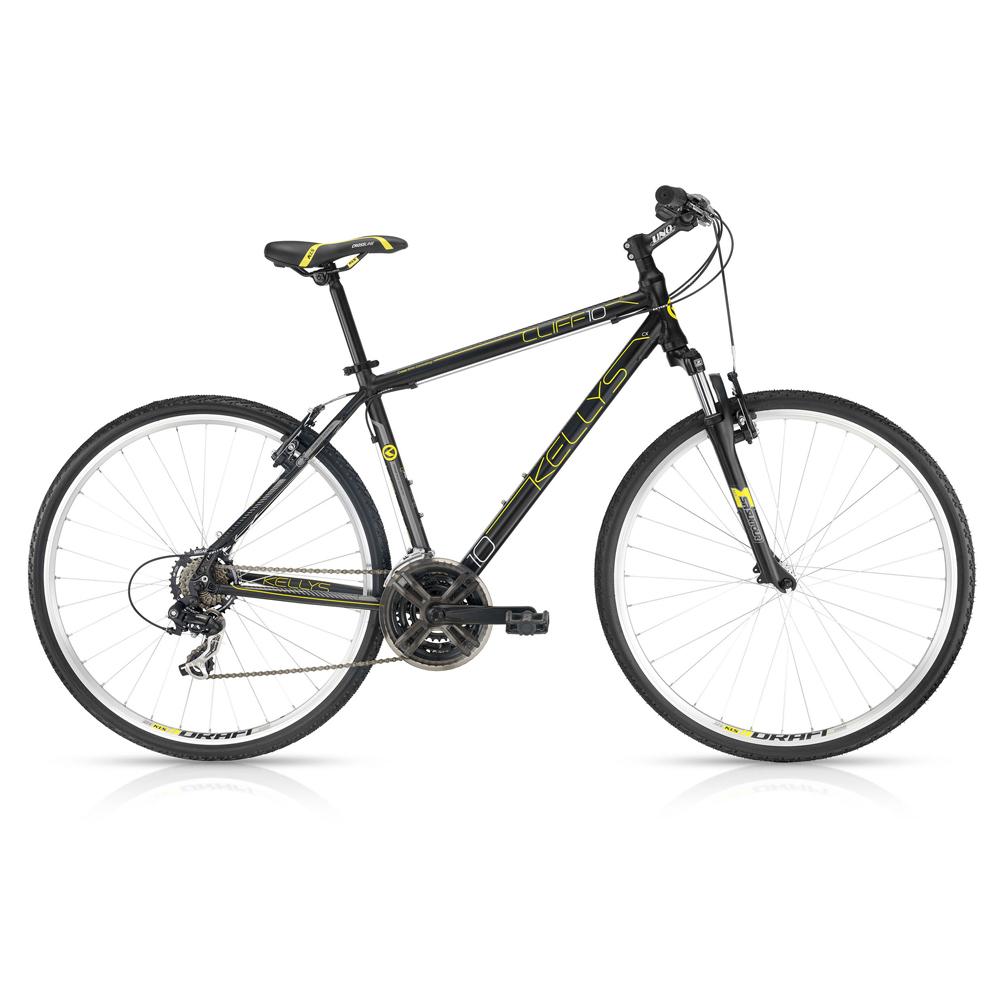 Pánsky crossový bicykel KELLYS CLIFF 10 Black Yellow 28