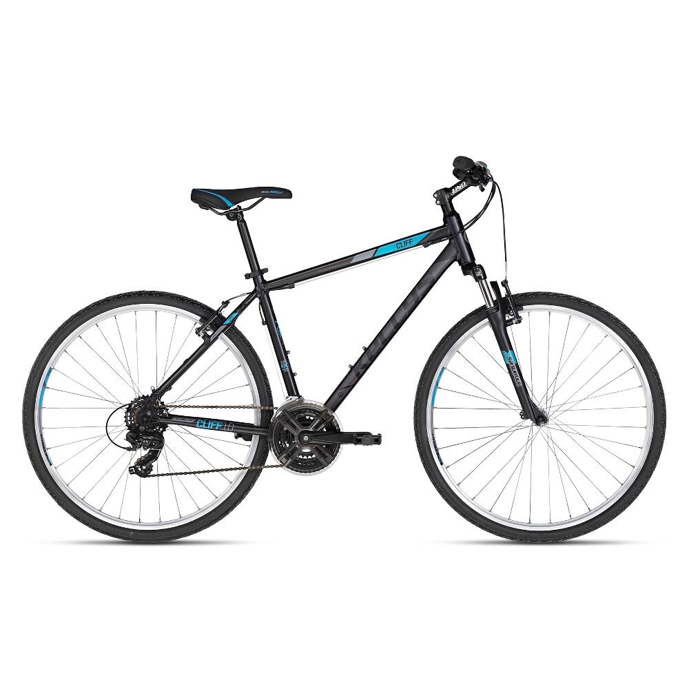 """Pánsky crossový bicykel KELLYS CLIFF 10 28"""" - model 2018 Black Blue - 19"""" - Záruka 10 rokov"""