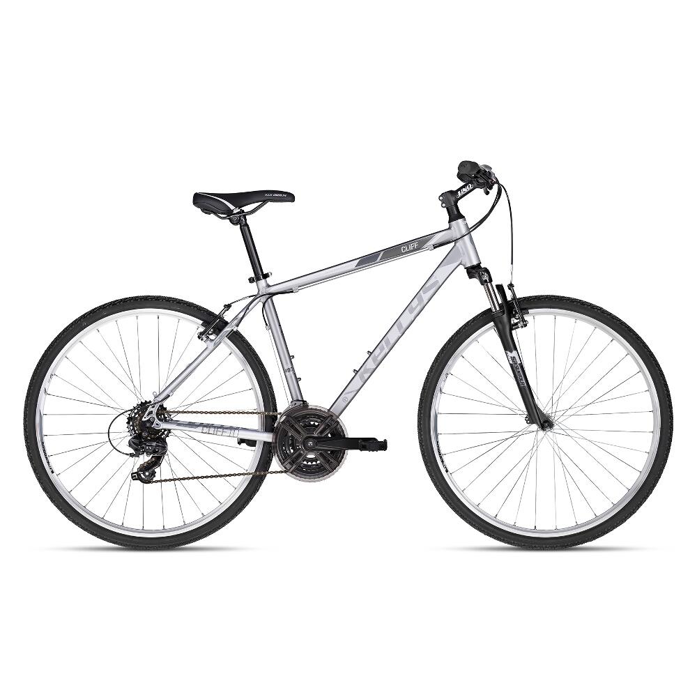 """Pánsky crossový bicykel KELLYS CLIFF 10 28"""" - model 2018 Silver - 17"""" - Záruka 10 rokov"""