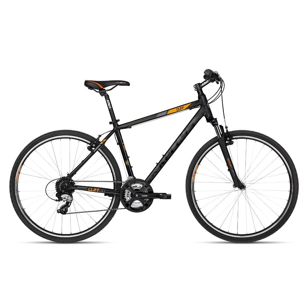 """Pánsky crossový bicykel KELLYS CLIFF 30 28"""" - model 2018 Black Orange - 21"""" - Záruka 10 rokov"""