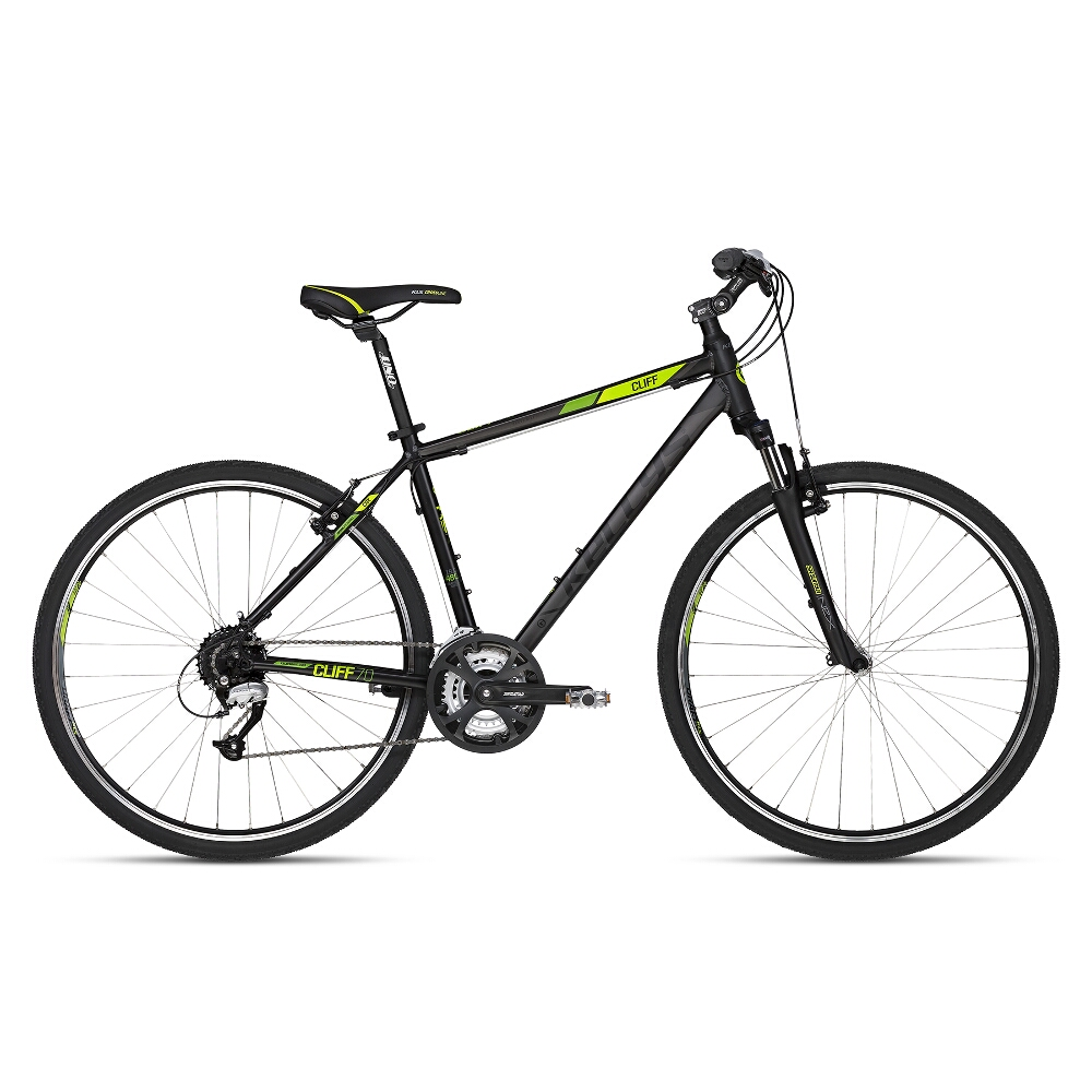 """Pánsky crossový bicykel KELLYS CLIFF 70 28"""" - model 2018 Black Green - 430 mm (17"""") - Záruka 10 rokov"""