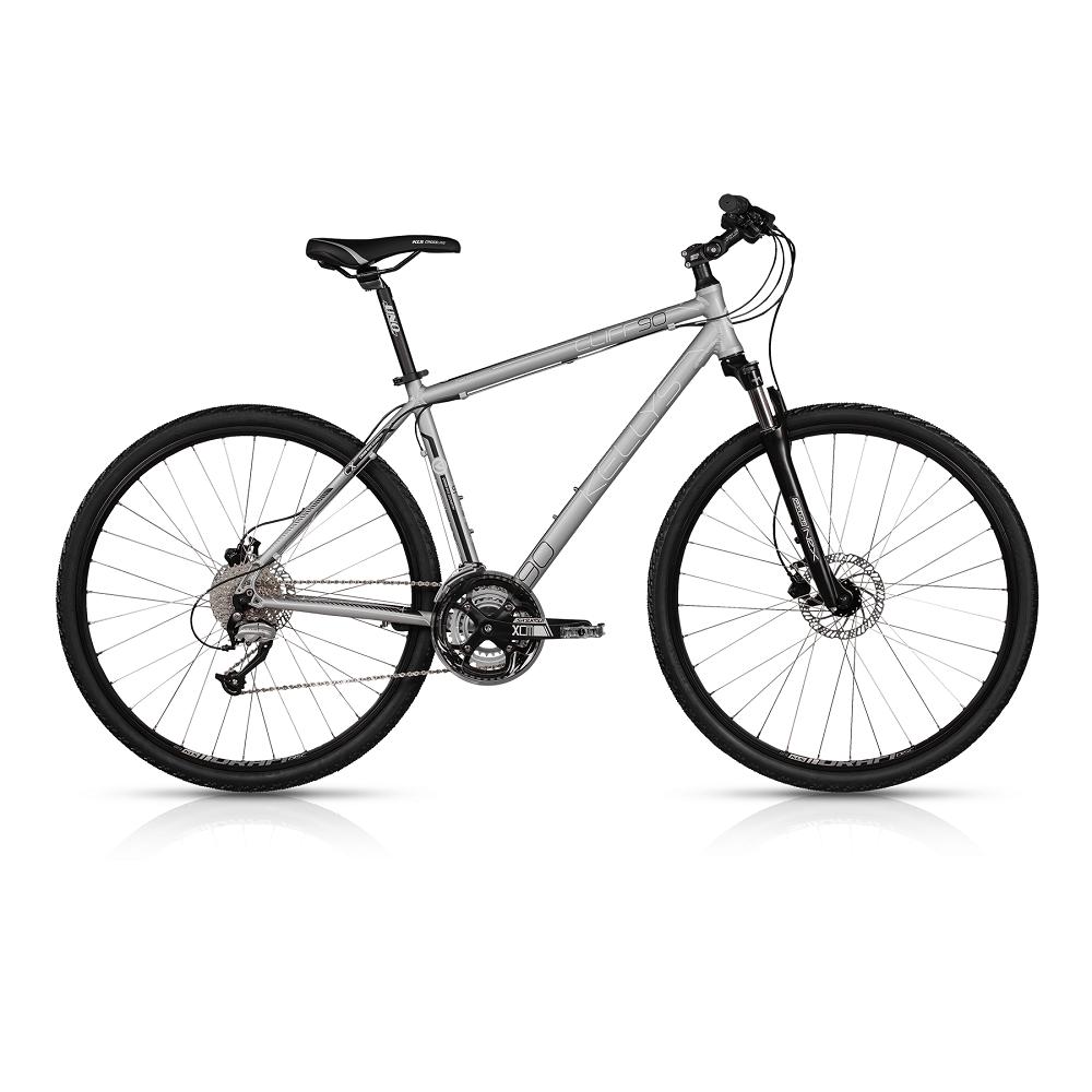 """Pánsky crossový bicykel KELLYS CLIFF 90 28"""" - model 2017 Silver - 530 mm (21"""") - Záruka 10 rokov"""