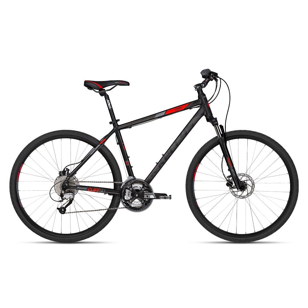 """Pánsky crossový bicykel KELLYS CLIFF 90 28"""" - model 2018 Black Red - 430 mm (17"""") - Záruka 10 rokov"""