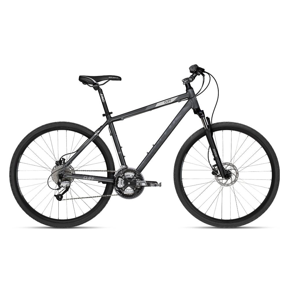 """Pánsky crossový bicykel KELLYS CLIFF 90 28"""" - model 2018 Grey - 480 mm (19"""") - Záruka 10 rokov"""