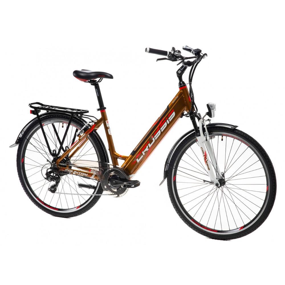 """Mestský elektrobicykel Crussis e-Country 1.10 - model 2021 17"""" - Záruka 10 rokov"""