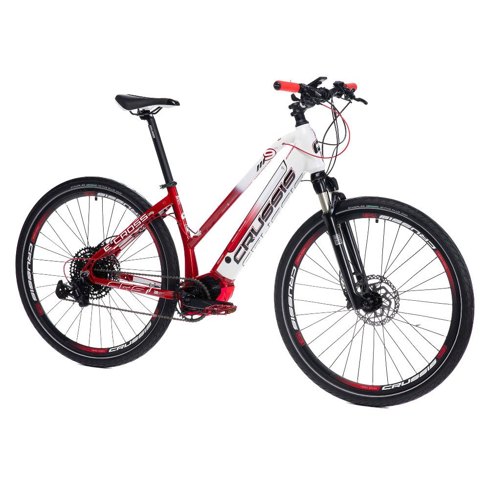 """Dámský crossový elektrobicykel Crussis e-Cross Lady 9.6-S - model 2021 17"""" - Záruka 10 rokov"""