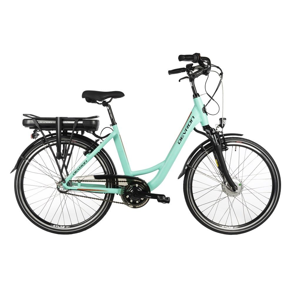 "Mestský elektrobicykel Devron 26120 26"" - model 2018 Light Blue - 18"" - Záruka 10 rokov"