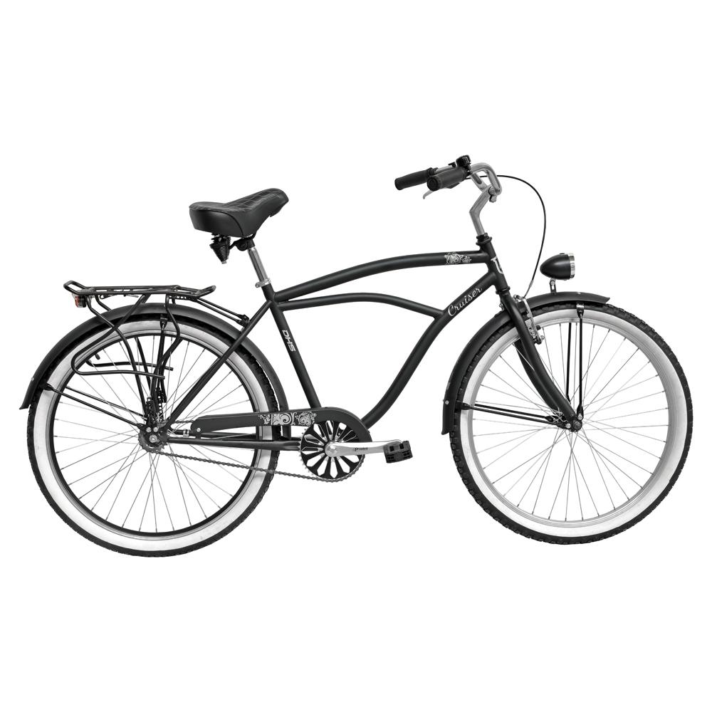 "Mestský bicykel DHS Cruiser 2695 26"" - model 2016 Black - 19"" - Záruka 10 rokov"