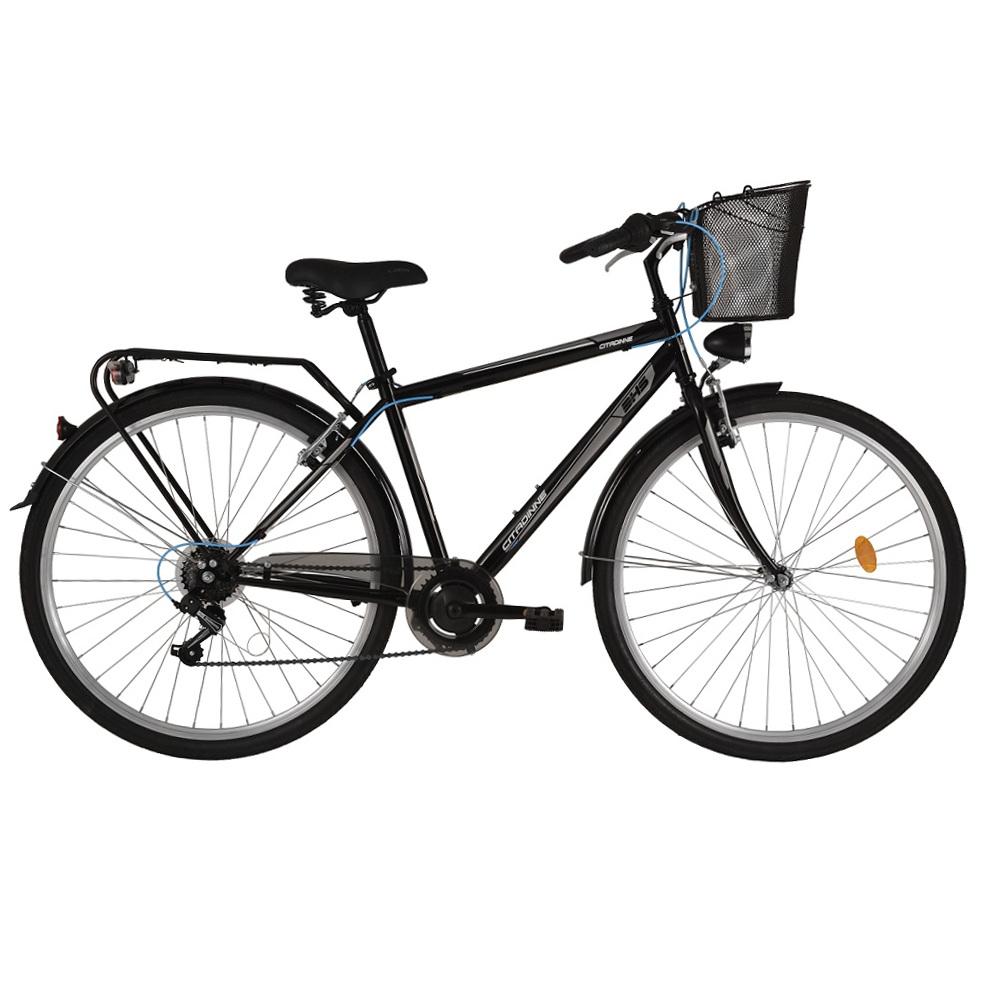 "Trekingový bicykel DHS Citadinne 2833 28"" - model 2017 Black - 18"" - Záruka 10 rokov"