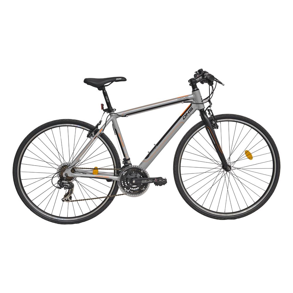 """Crossový bicykel DHS Contura 2863 28"""" - model 2016 Gray - 19"""" - Záruka 10 rokov"""
