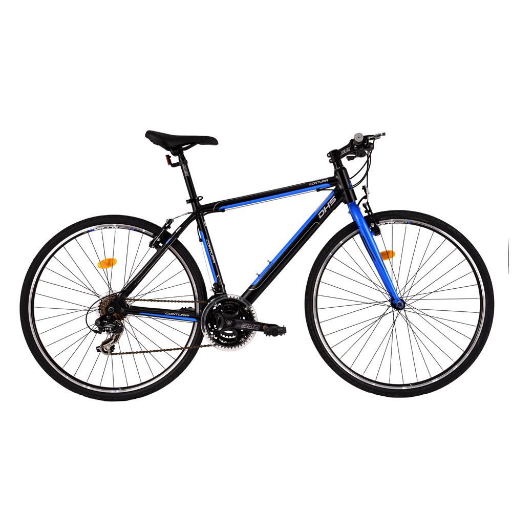 """Crossový bicykel DHS Contura 2863 28"""" - model 2016 Black - 19"""" - Záruka 10 rokov"""