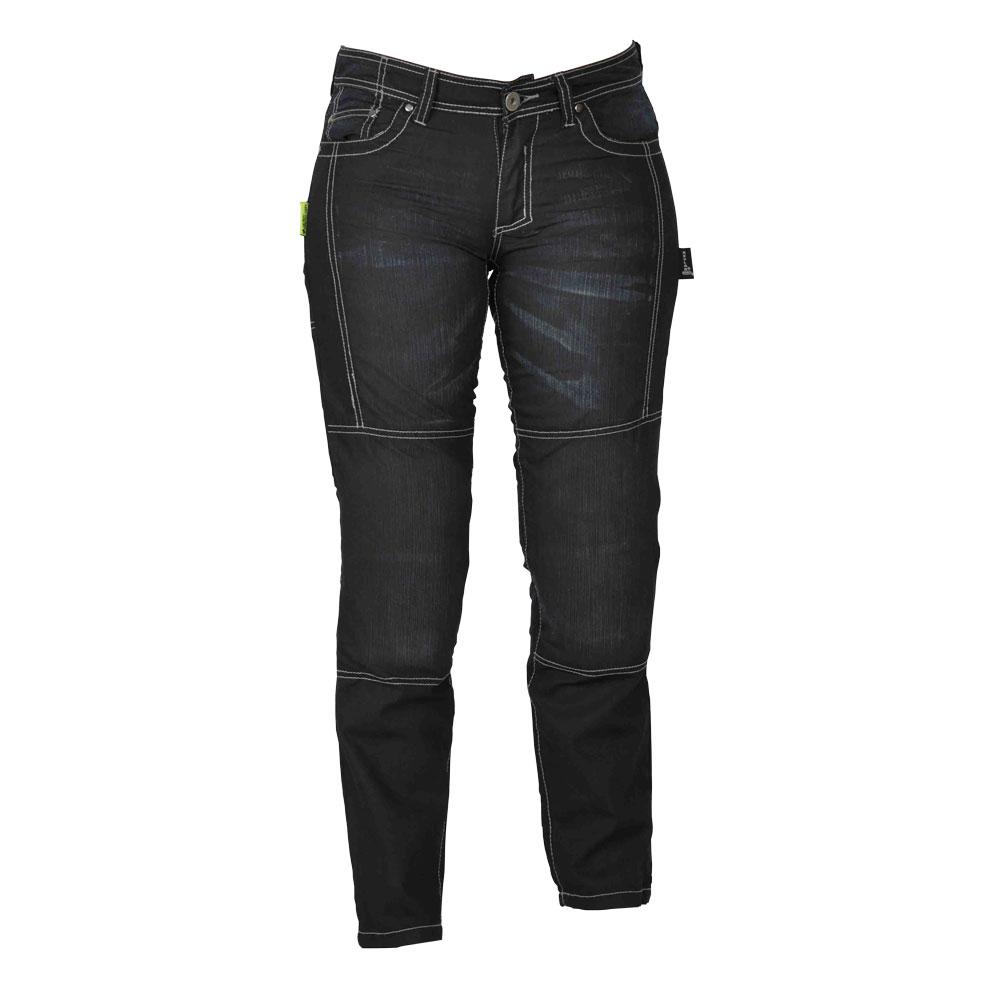 Dámske motocyklové jeansy W-TEC Theo čierna - 16/L