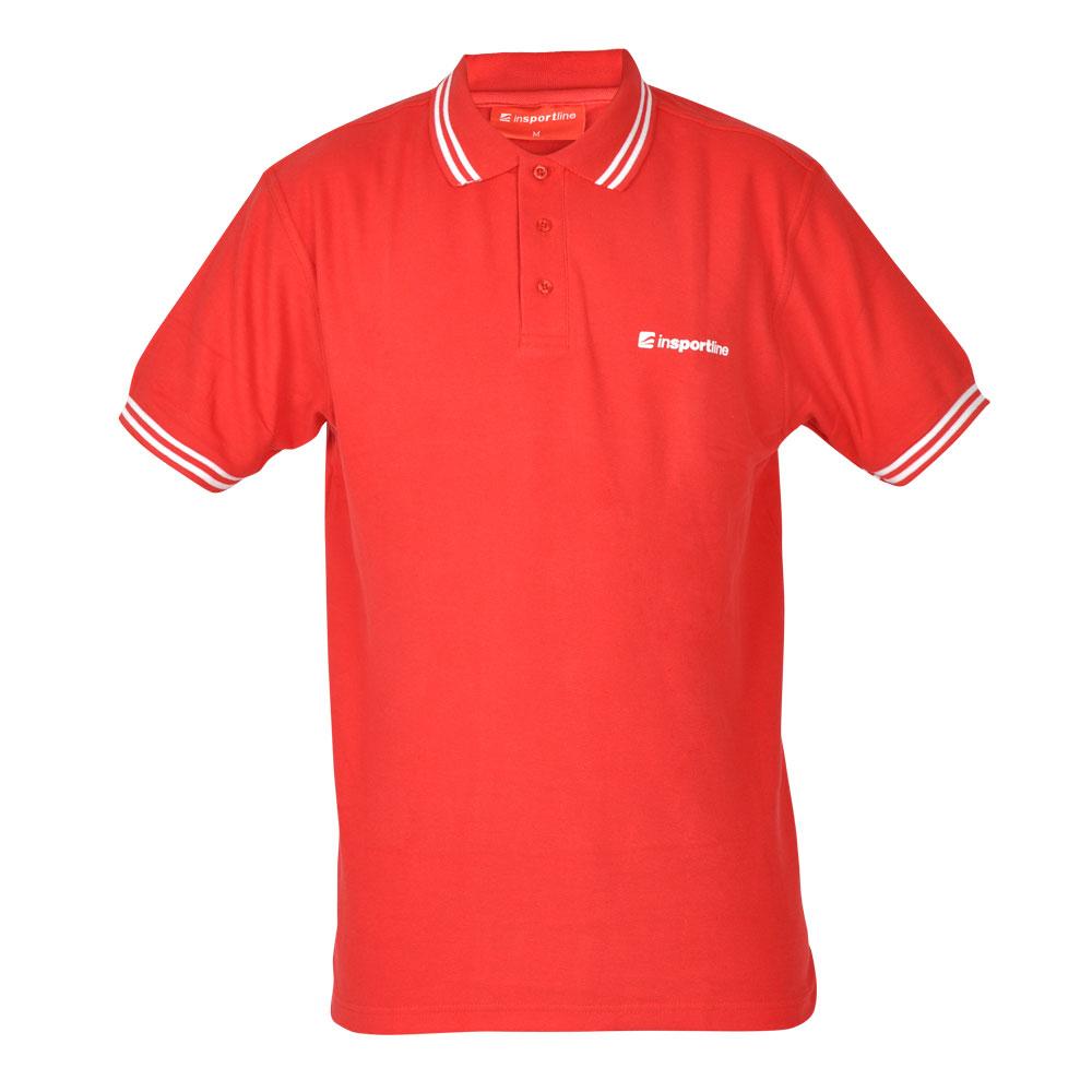 Športové tričko inSPORTline Polo červená - L