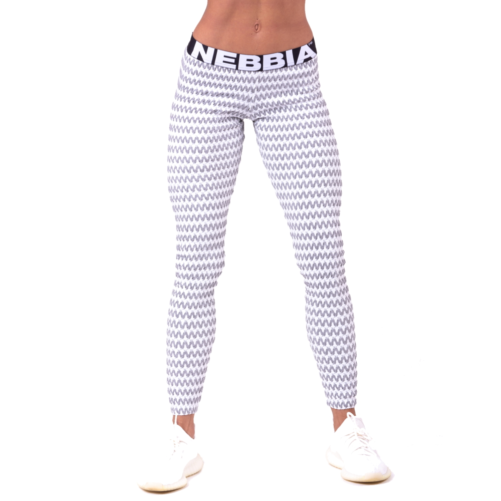 Dámské legíny Nebbia Boho Style 3D pattern 658 Light Grey - S