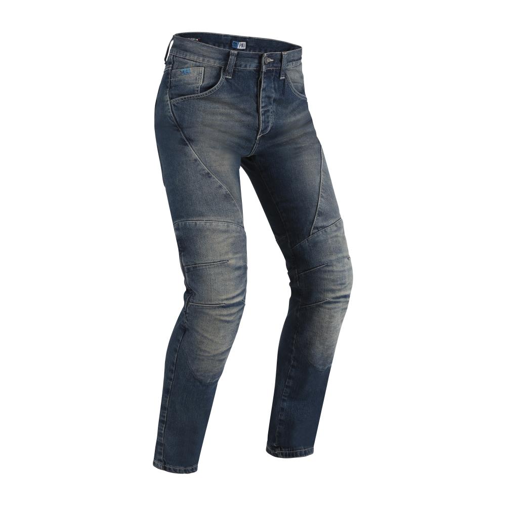 Pánske moto jeansy PMJ Dallas CE modrá - 30