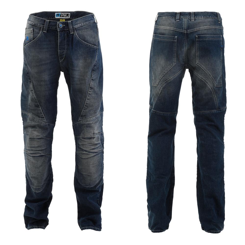 Pánske moto jeansy PMJ Dallas CE modrá - 42