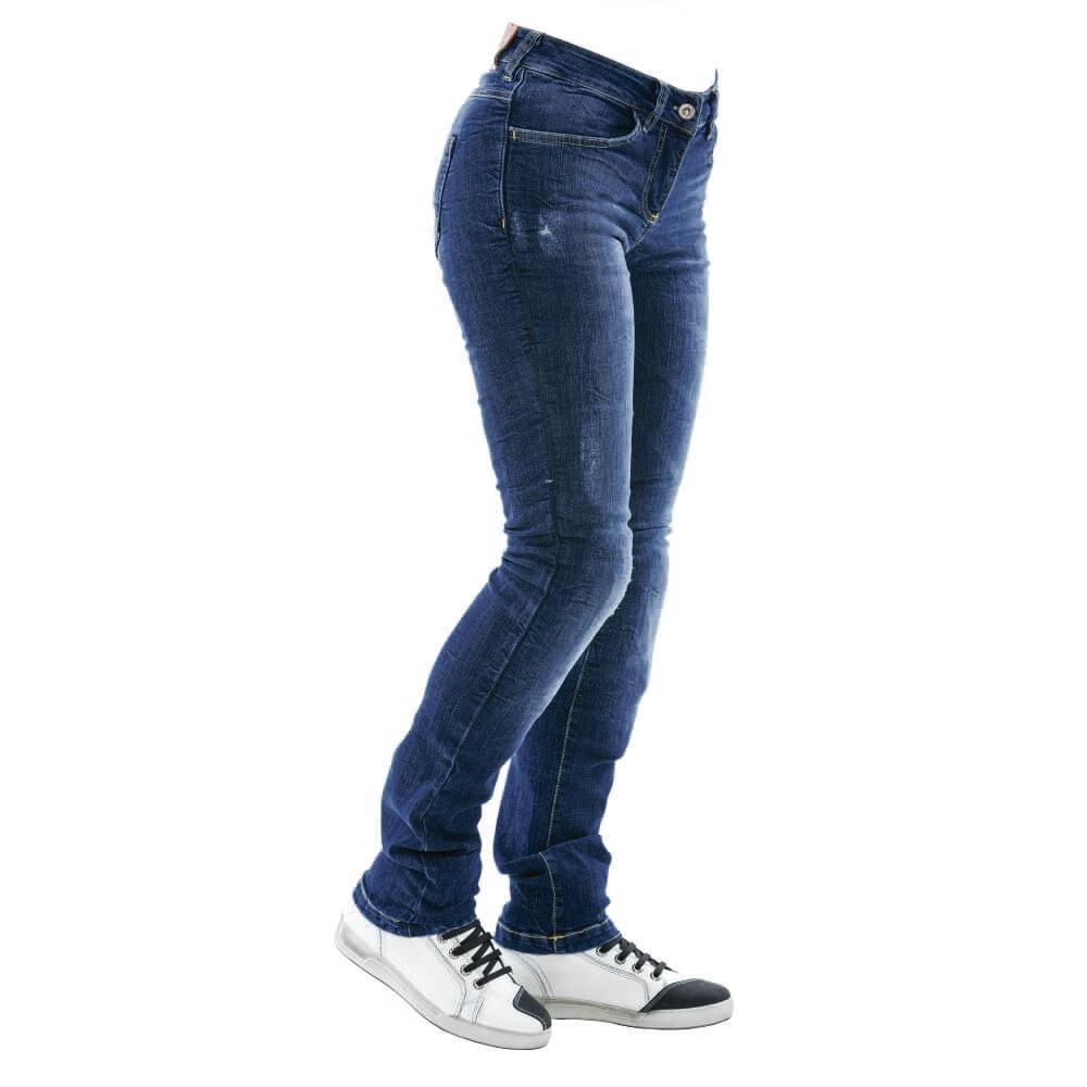 Dámske moto jeansy City Nomad Karen Iron