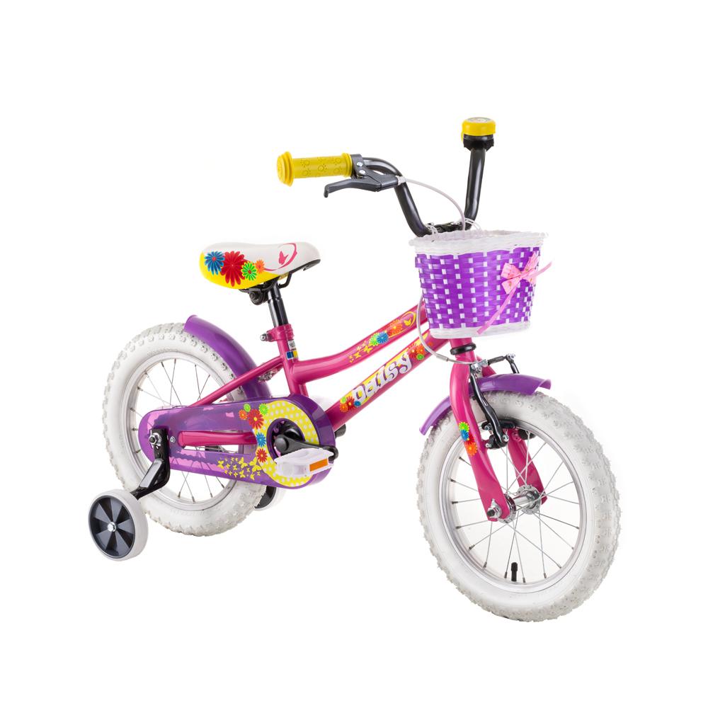 """Detský bicykel DHS Daisy 1602 16"""" - model 2019 Pink - Záruka 10 rokov"""