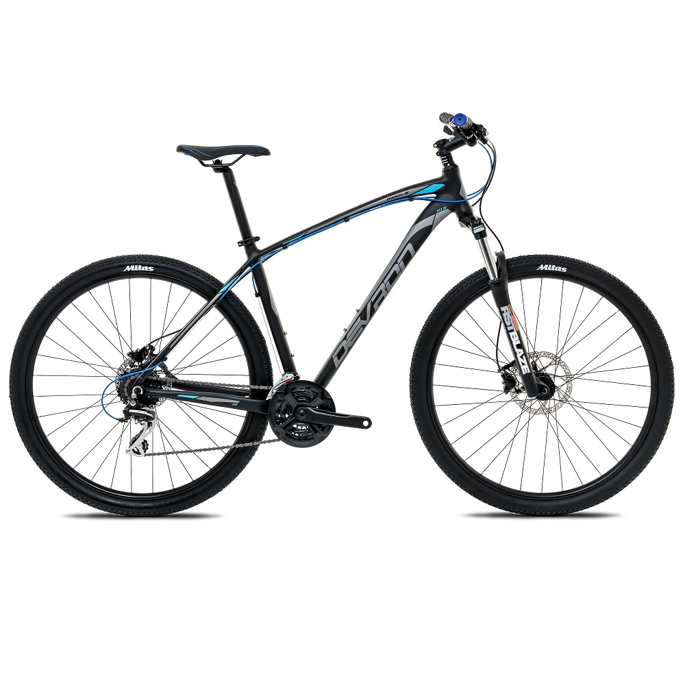 "Horský bicykel Devron Riddle H1.9 29"" - model 2017 Pure Black - 19,5"" - Záruka 10 rokov"