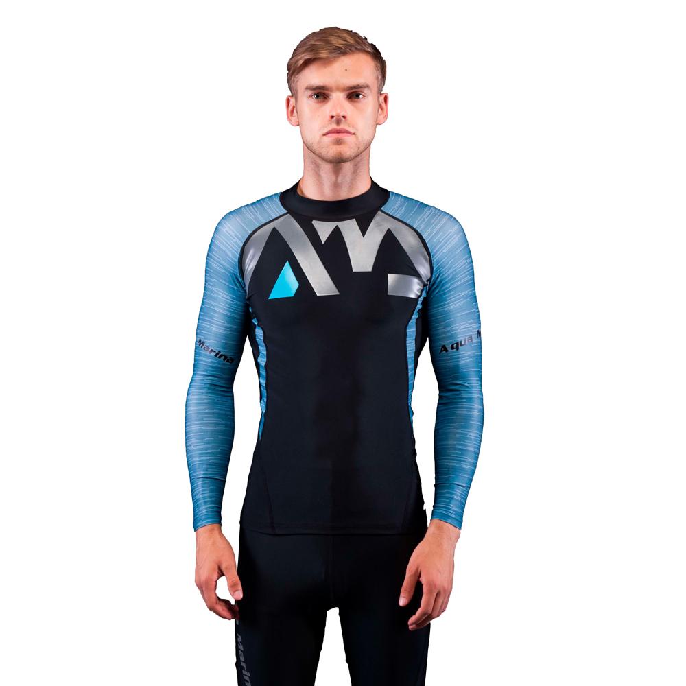 Pánske tričko pre vodné športy Aqua Marina Division modrá - M