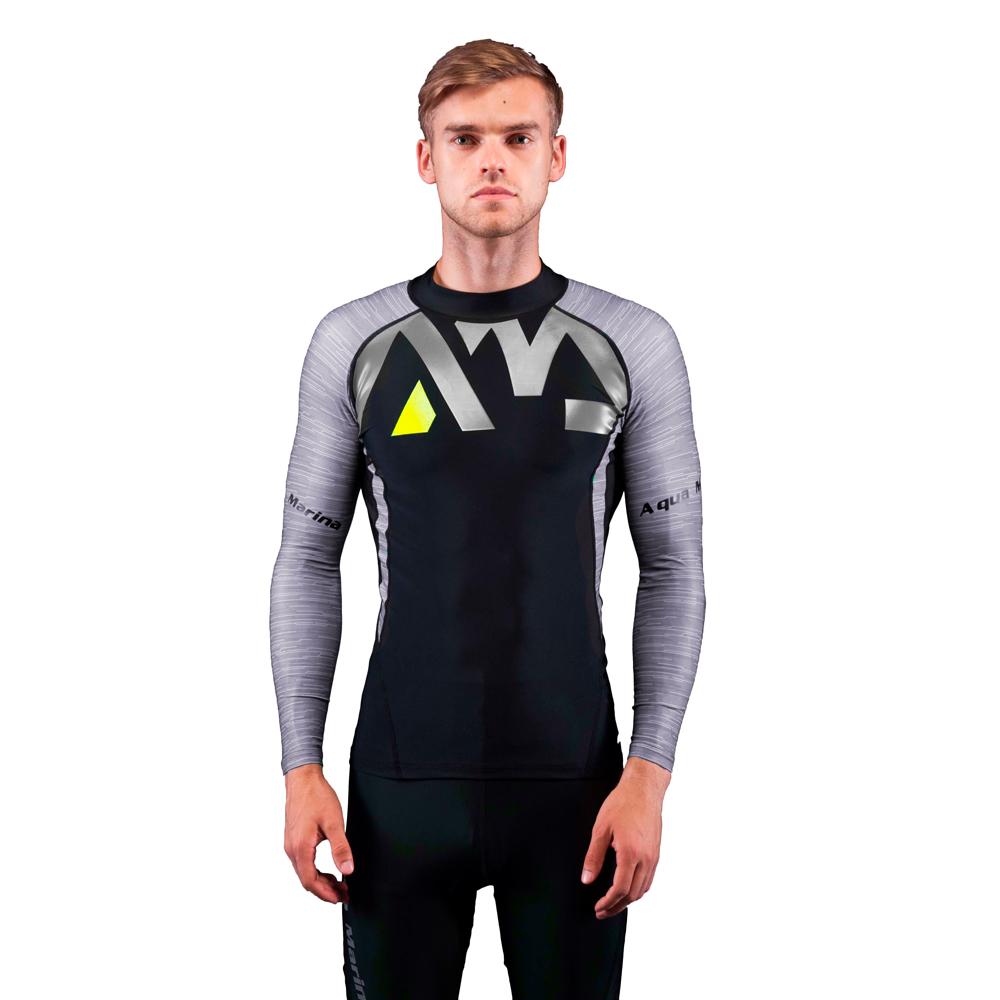 Pánske tričko pre vodné športy Aqua Marina Division šedá - S