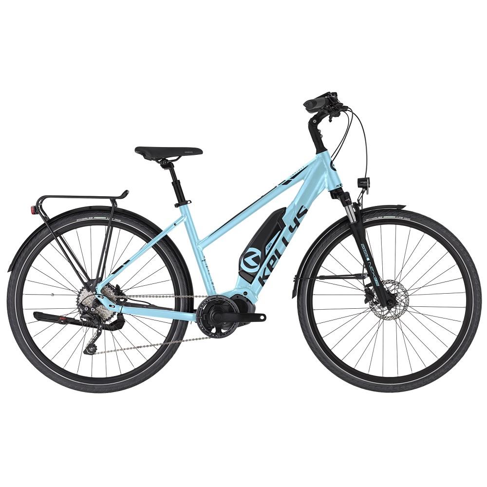 "Dámsky trekingový elektrobicykel KELLYS E-Cristy 50 28"" - model 2020 sky blue - S (17'') - Záruka 10 rokov"