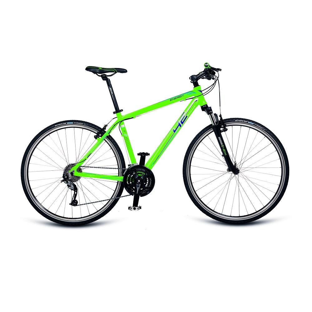 """Pánsky crossový bicykel 4EVER Energy 28'' - model 2018 matne zelená - 21"""" - Záruka 10 rokov"""