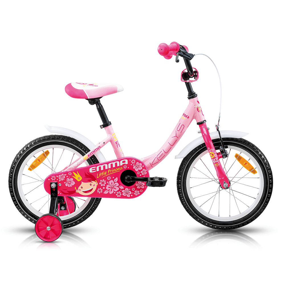 "Detský bicykel KELLYS EMMA 16"" - model 2017 Pink - 240 mm (9,5"") - Záruka 5 rokov"