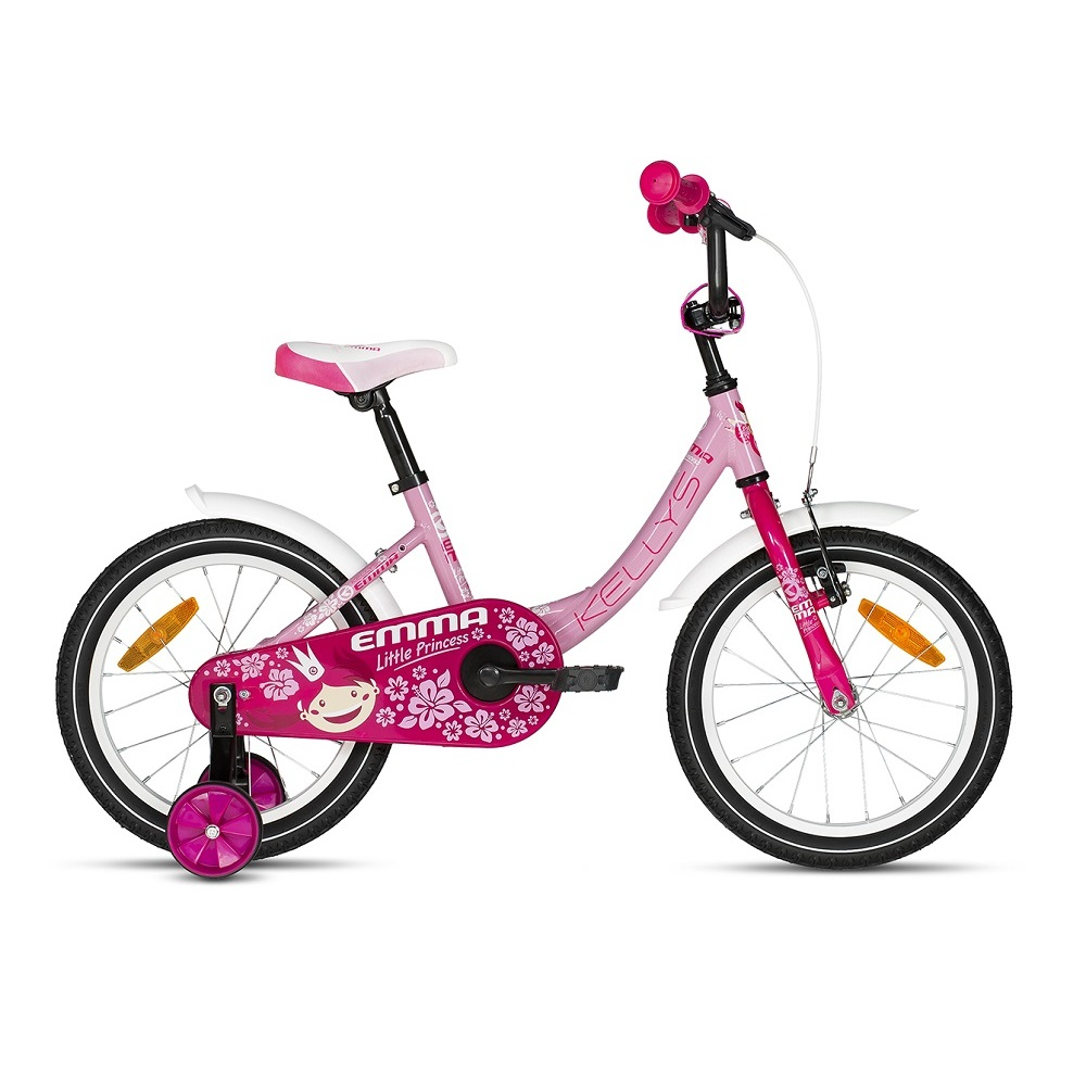 "Detský bicykel KELLYS EMMA 16"" - model 2018 Pink - Záruka 10 rokov"