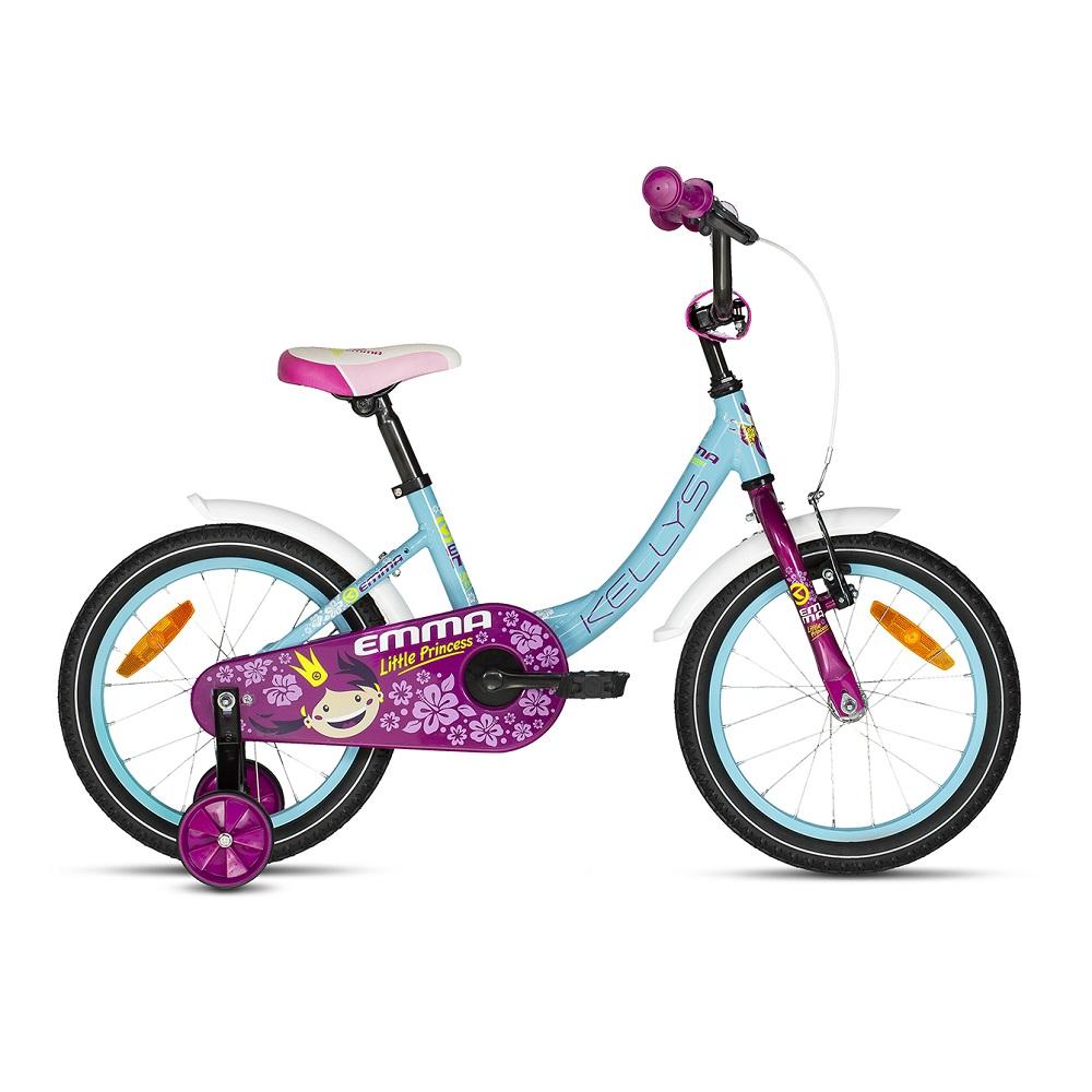 "Detský bicykel KELLYS EMMA 16"" - model 2018 Sky - Záruka 10 rokov"