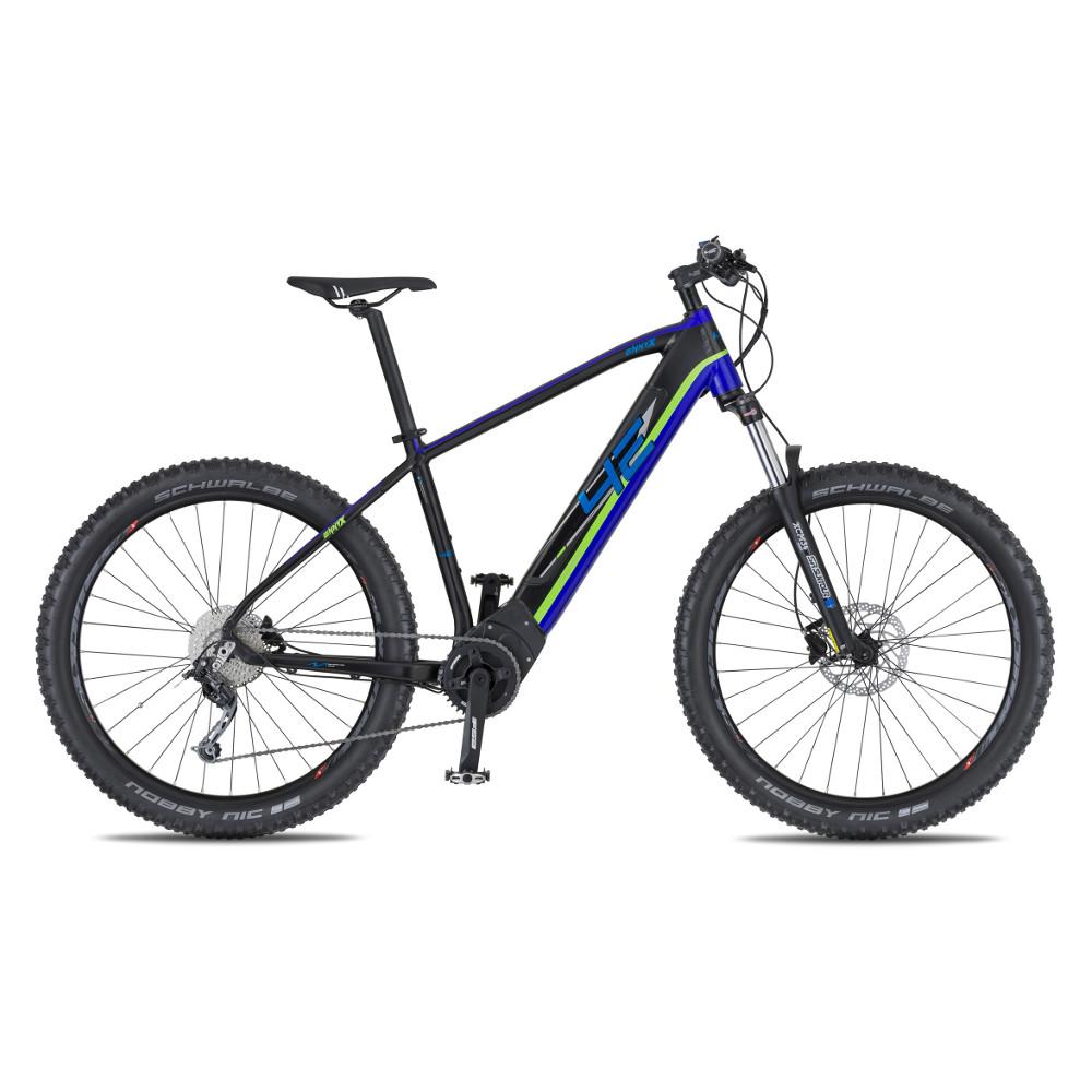 """Horský elektrobicykel 4EVER Ennyx 3 27,5"""" Plus - model 2020 čierna/modrá - 15,5"""" - Záruka 10 rokov"""
